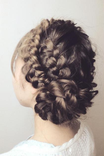 編み込めば編み込むほどかわいい☆ H//M hair所属・森哲也のスタイル