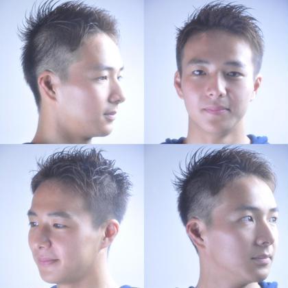 サイドをしっかり刈り上げで、全体的に短かめなスタイル✨ スポーツマンにオススメなスタイルです( ´ ▽ ` )ノ romo hair所属・きすゆうきのスタイル