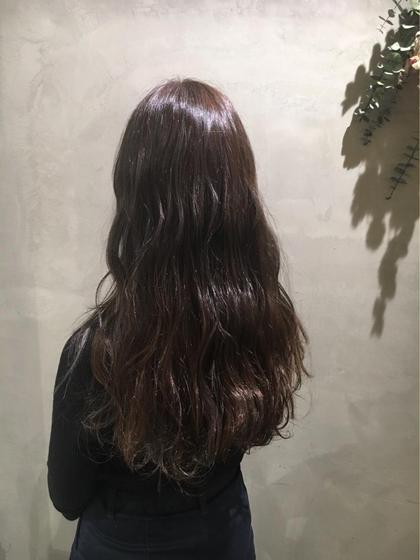 谷岡玲奈のロングのヘアスタイル
