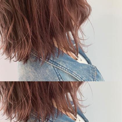 [ミニモ限定クーポン]柔らかピンクカラー+トリミングカット✨