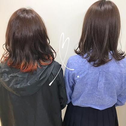 【イチオシmenu☝🏼💜】全体カラー+裾カラー