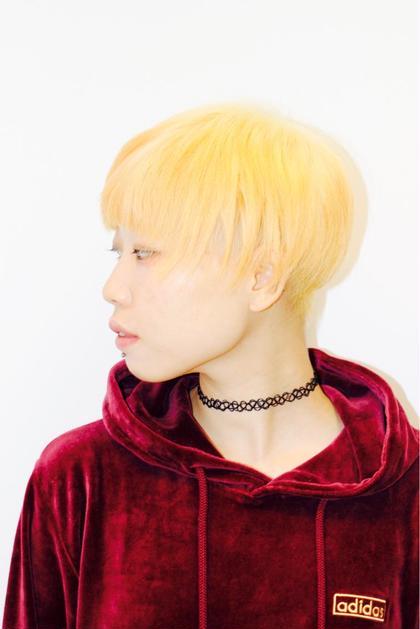 ショートブリーチヘア you&i hair design所属・高山雄太のスタイル