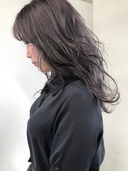 ✅就活や研修、実習にオススメ♪《黒染めを使わずにグレーで染める透明感ダークカラー♪》 *極艶シアトリートメント付き