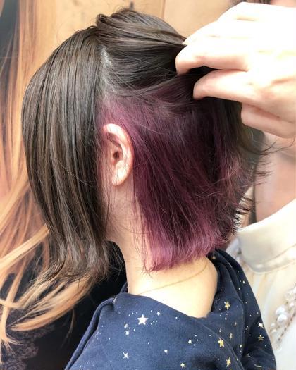 ⛄️❤️人気メニュー❤️【インナーカラー】✨組み合わせ色々♪ピンク・パープル・ブルー・グリーン出来ます????(^ ^)