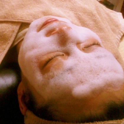 泡洗顔。 お肌の弱っている所を診断できます。 ホームエステサロン~cuculu~くくる所属・田中裕子のフォト