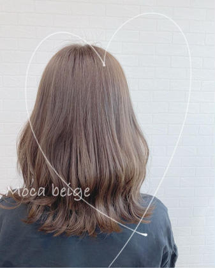 ✨オーガニック全体カラーPlus色持ちup💕トリートメント付き✨白髪染め対応✨ブローorストレートアイロン仕上げ
