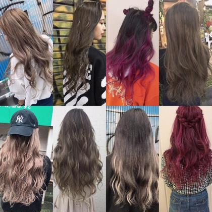 【長さ】各長さ 外国人風のヘアースタイルも大人気❤️ アッシュ系やハイライトも入れれるのでオススメです⭐️