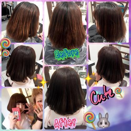 髪毛が3色ぐらいになっていたので 1色に綺麗にしました✨  大成功◎ CoL所属・うちださつきのスタイル
