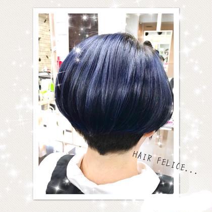 ブルーブラック♪ ブリーチ必須です☆ HAIR FELICE所属・HAIRFELICEスタッフのスタイル