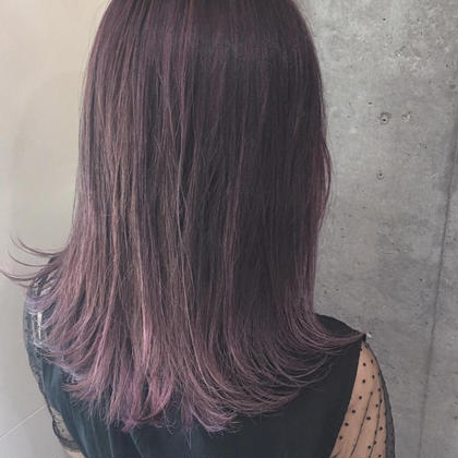 pink violet color % % 西村なる美のヘアスタイル・ヘアカタログ
