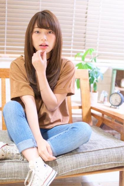 うるさらストレート♡ 前髪パーマもおすすめです(*^^*) Neolive  sign所属・岡部夏帆のスタイル