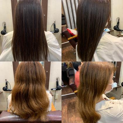 【人気No,2】前髪カット+低刺激カラー+3ステップトリートメント