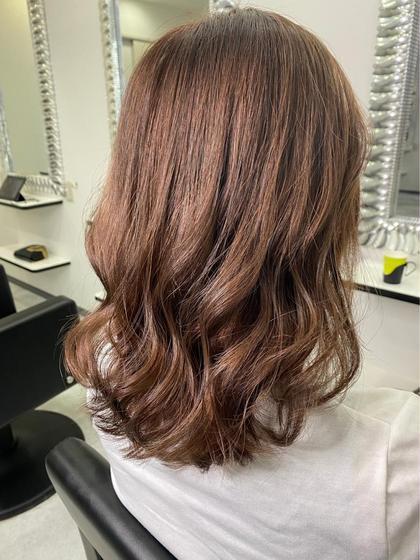 前髪カット+透明感カラー+トリートメント