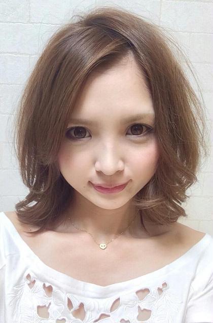 セットしやすくて、どんな顔型でも似合います♪ PLUS  A所属・yoriko♪のスタイル
