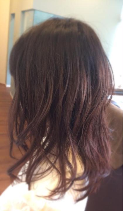バージン毛からのブリーチなしダブルカラー alpha hair salon九大学研都市店所属・大川由起子のスタイル