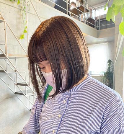 【 新規限定 】cut + color + 超音波treatment