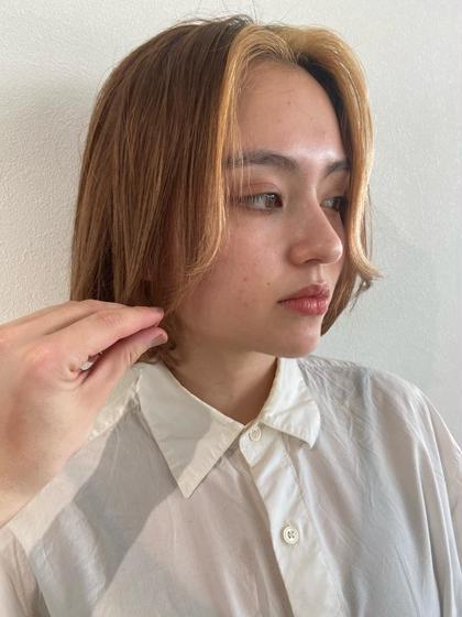 【こなれ感を作るならこれ!!💁♂️】カット+艶髪カラー+極上oggi  ottoトリートメント
