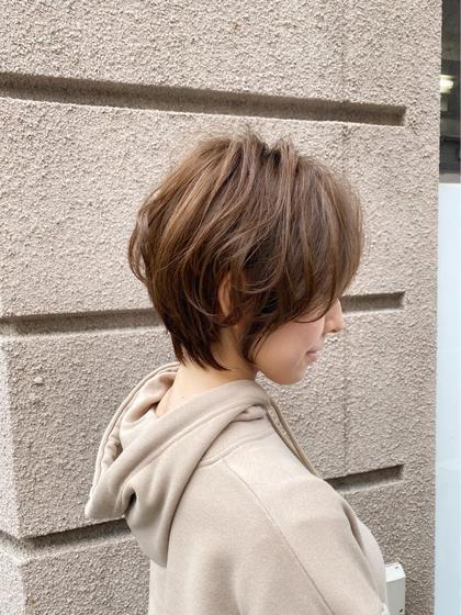小顔似合わせカット+ゆるふわパーマ+トリートメント【ショートorショートボブ限定】