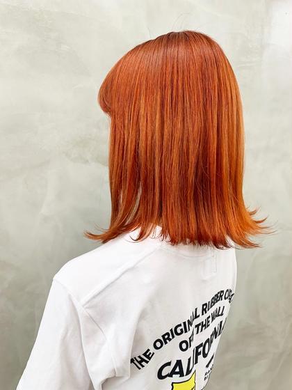 オレンジブラウン #オレンジ#カラー