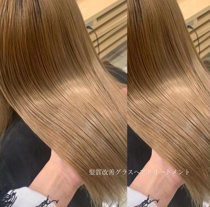 おすすめ🌟ワンカラー➕【大人気❗髪質改善】グラスヘアトリートメント✨