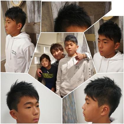 お子様カット✂カッコよくなった〜(*´罒`*) 山下高明のキッズヘアスタイル・髪型