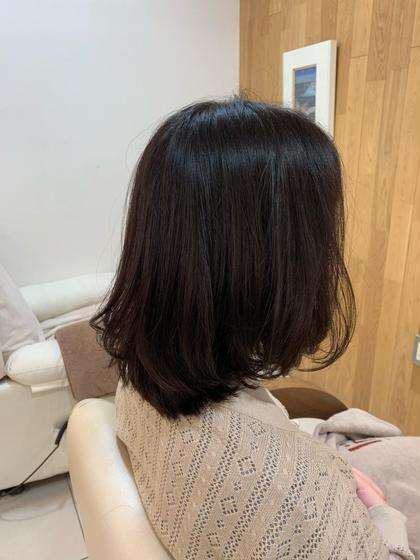 カット+白髪染めリタッチ(ケアリタッチ)+アルカリ除去