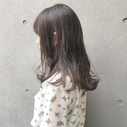 イルミナカラー 全体染め+カット+トリートメント ¥7980