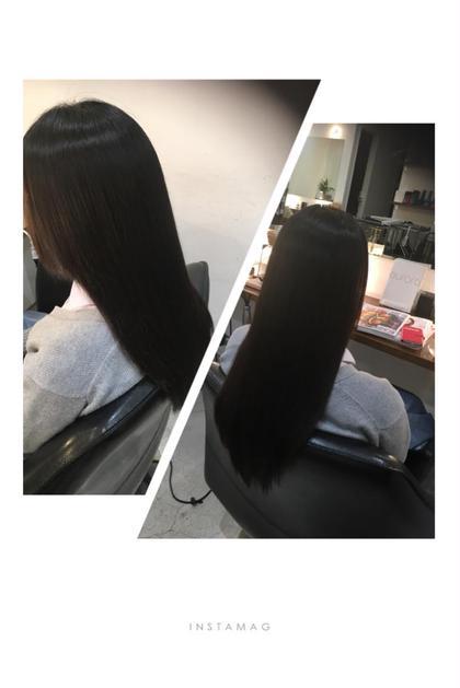 縮毛矯正のモデル様❤︎ つやつやサラサラな仕上がりです! efface所属・中山莉沙のスタイル