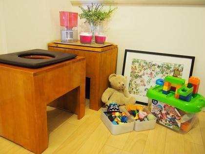 ベイビーからキッズまでお子さま連れ大歓迎です。沢山のおもちゃやDVDなどのご用意がございます! THESALONよもぎ蒸し&トリートメント所属・遠藤幸恵のフォト