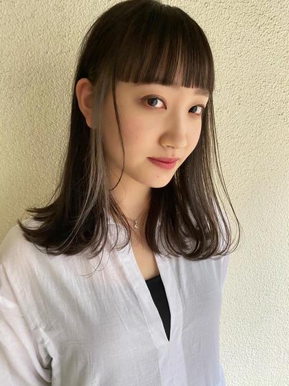 【前髪カット+カラー+トリートメント】