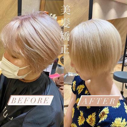 【髪質改善】大人気!ブリーチ毛でもサラ艶髪に❤︎ピンとならない柔らかい縮毛矯正🧏🏻♀️過度でないブリーチ毛にも適用