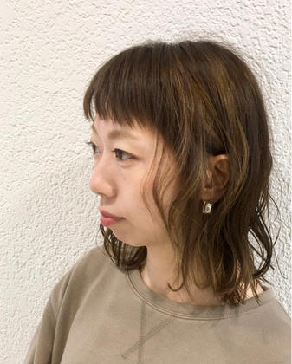 【立体感のあるヘアカラー】3Dカラー+(ハイライト)+トリートメント