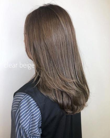 カット&イルミナカラー&オッジィオットトリートメントでダメージゼロの髪の毛へ