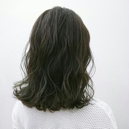 グレージュカラー 大人可愛いロブヘアー❤ NYNY 加古川店所属・宮川華奈のスタイル
