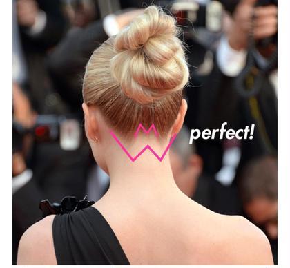 アップヘアなどすると気になるうなじ! この機会にパーフェクトな後ろ姿手に入れましょう♡ SiSTotalBeauty所属・田中佑果のフォト