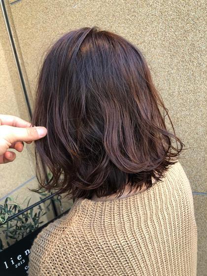髪色でお肌の色がよく見える😳刺激の少ない優しいオーガニックカラー❗️