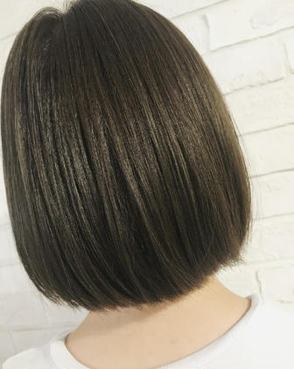 《暗いカラーでも透明感ほしい!》前髪カット&ダークトーン透明感カラー&プチトリートメント