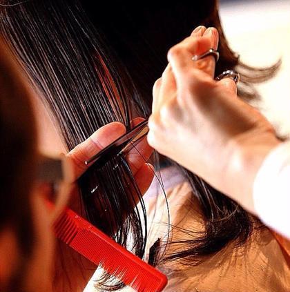 【18時以降指名なしフリー予約‼️】前髪カット付🌟オーガニックヘアカラー&3種の選べるトリートメント※お時間の指定不可