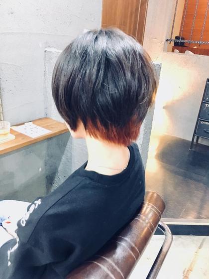 ベリーショートでも!  インナーカラーをオススメします!   前髪にもインナーカラー入れる場合は  プラス500円でやらせていただきます!  #ベリーショート #派手髪  #インナーカラー