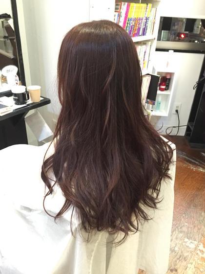 ピンクブラウン 落ち着いたブラウンの中にほんのりピンク☺️ hair salon dot.tokyo所属・田中萌子のスタイル