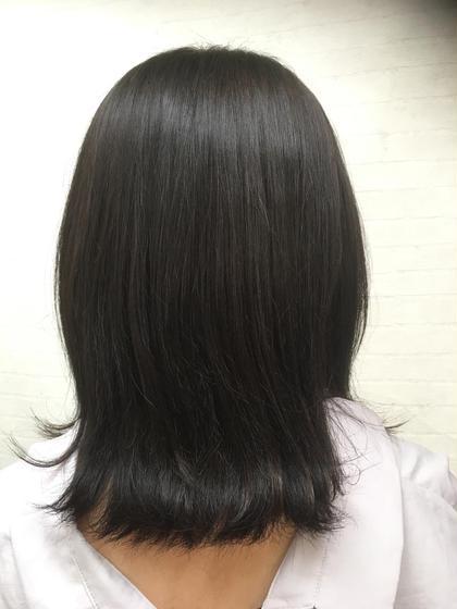 カラー ミディアム 色が抜けて明るくなった髪の毛に暗いアッシュ系を入れ、色持ちの良いカラーです!