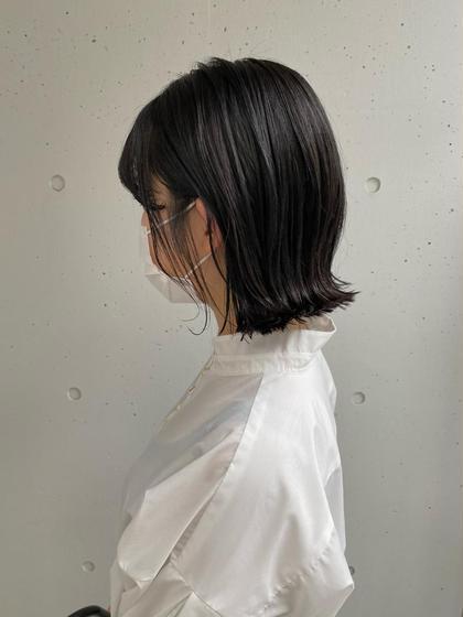 【就職カラー】黒染めをしない透け感暗染めカラー🌟+Hoyuクイックトリートメント