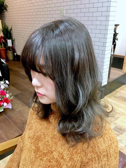⚡️8月限定⚡️前髪カット&カラー&超音波トリートメント