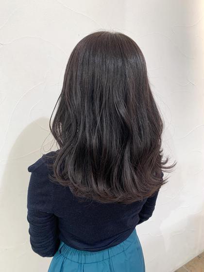 💫根本が伸びても気にならない💫暗髪透明感カラー!+シルクトリートメント付き💓【再来のお客様+1650円】
