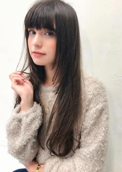 ✨人気NO2✨小顔似合わせcut+コスメ系縮毛矯正