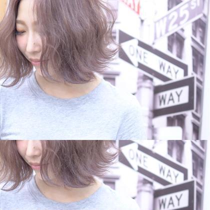 切りっぱなしボブスタイル カラーリングはシアーピンクで柔らかく GOSSO新町所属・湯浅翔剛のスタイル
