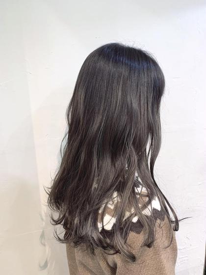 【根元3cmまで】白髪染めもOK✨カット+リタッチカラー