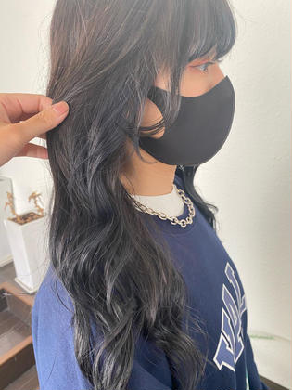🌷🍬前髪カット+カラー+クイックトリートメント+コテ巻き仕上げ