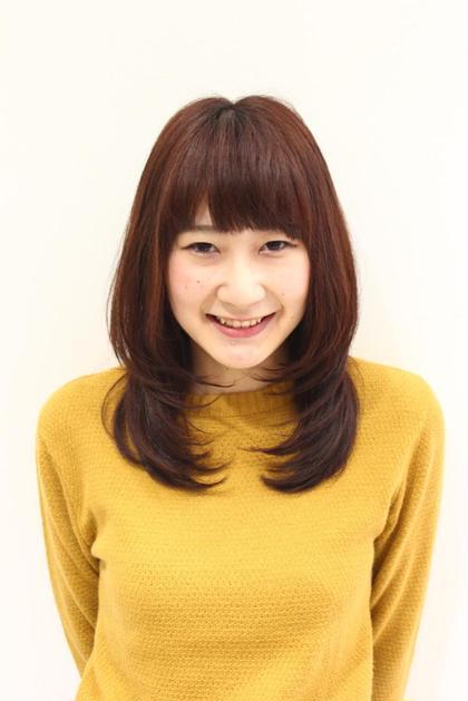 ナチュラルワンカール♡春色カラー mignon  by happiness 高の原所属・池田恵梨香のスタイル