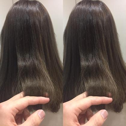 カラー ロング 改善改善潤艶グレージュ❌サロン専用トリートメント  髪質改善の潤いと艶を与えるグレージュと サロン専用トリートメントでこのとんでない艶!!